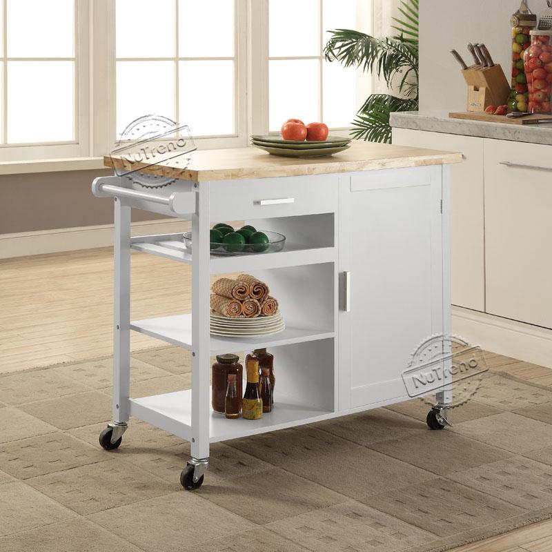 102036 Home Styles 3 Tier Kitchen Island Cart on Wheel