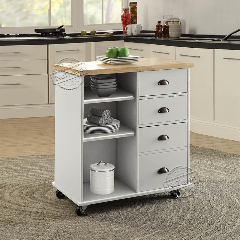 Rolling Kitchen Island Modular Kitchen Trolley Small Kitchen Island on Wheels 102068
