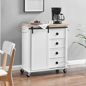 Wholesale Price 5 Tier Corner Shelf - 102199 Industrial Farmhouse Kitchen Cart Microwave Cart with Storage –  NuTrend