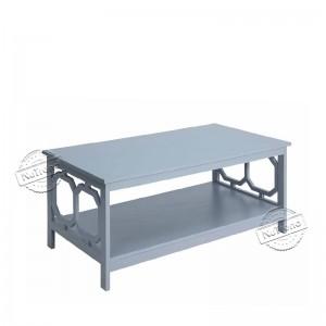 Grey Omega Coffee Table with Storage Shelf Living Room 203107