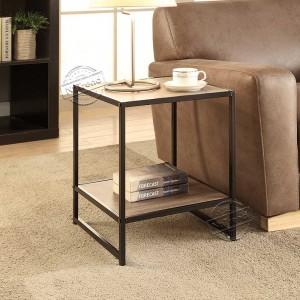203122 Modern Cheap Side Table with 2 Shelves for Living Room