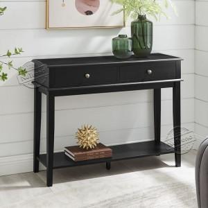 Maine Modern Black Wood Entrance Hall Tables For Living Room Furniture 203594