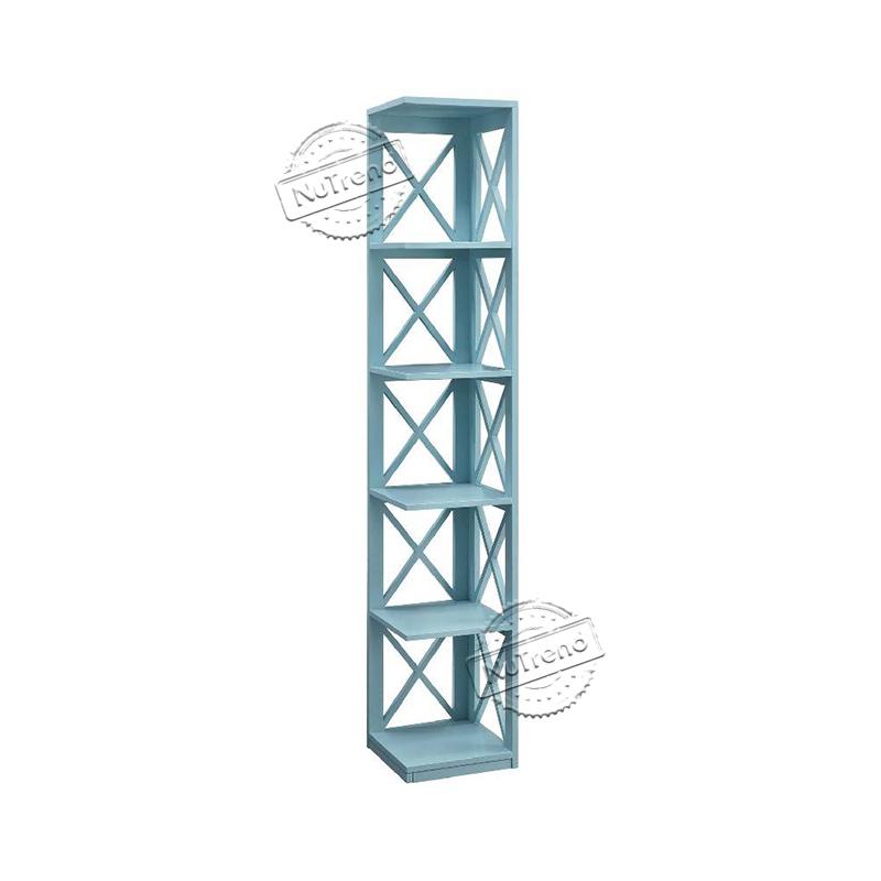 5 Tier Corner Cross Bookcase Display Storage Rack Bookshelf for Home Office 502086