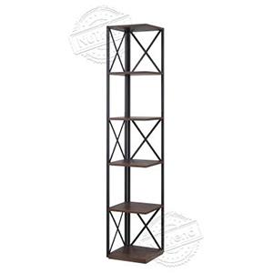 Metal Corner Shelf 5 Tier Industrial Ladder Shelf Display Shelving Unit for Living Room,Home office,Kitchen 502145