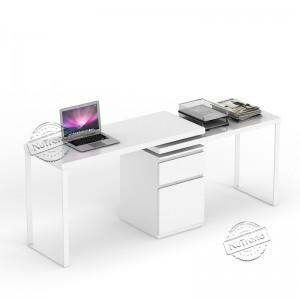503140 Long White Desk for 2 Person Computer Desk