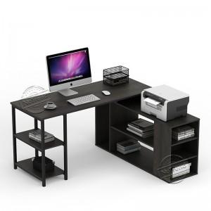 503143 Large L-Shaped Desk with Open Storage Shelf
