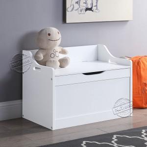 White Kids Basic Toy Box 702014