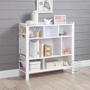 Wooden White Kids Bookshelf Modern Children Bookcase in Any Playroom 708022